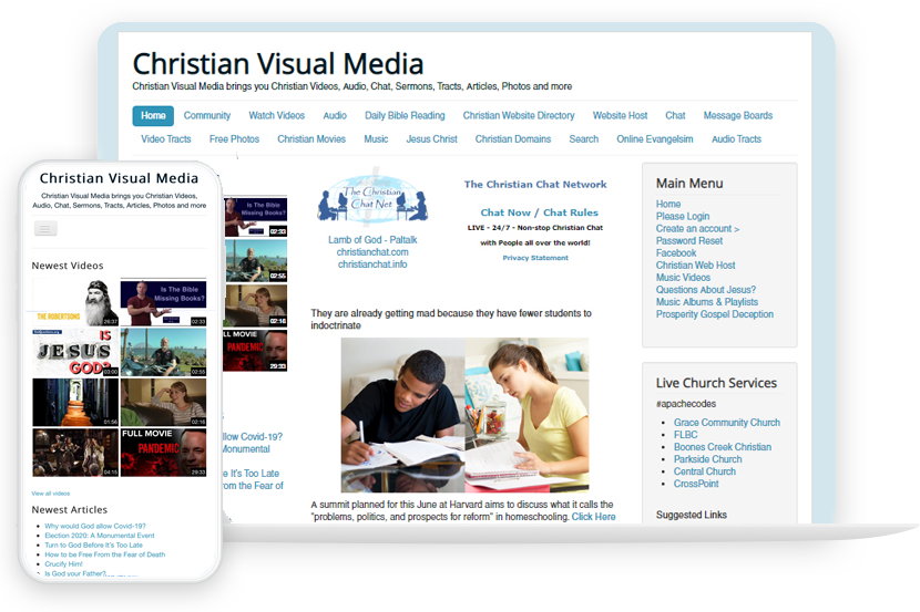 Christian Website Builder site design
