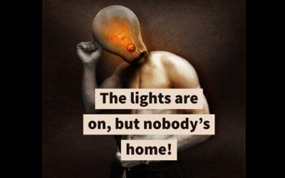The lights are on, but nobody's home!
